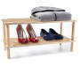 Wooden Household Shelves silo front with clothing shoes props