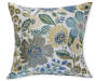 Woodside Blue and Green Throw Pillow 20in x 20in silo front