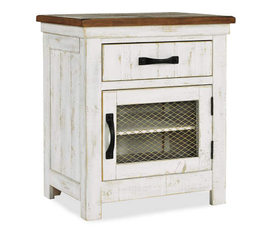 Signature Design By Ashley Wystfield White Brown Two Tone Nightstand Big Lots