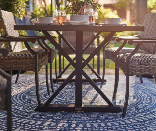 Broyhill X Frame Patio Dining Table Big Lots