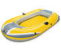 Yellow Inflatable Single Person Raft silo front