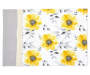 Yellow and Gray Floral Braid Placemat Overhead View Silo Image