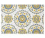 Yellow and Gray Medallion Placemat Silo Image