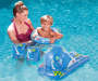 Youth Blue 5 Piece Inflatable Swim Set Outdoor Setting with Model in Pool Lifestyle Image