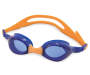 Youth Orange and Blue Swim Goggles silo front
