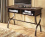 Zander Brown Slate Console Table lifestyle