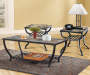 Zander Rectangular Slate Coffee Table lifestyle