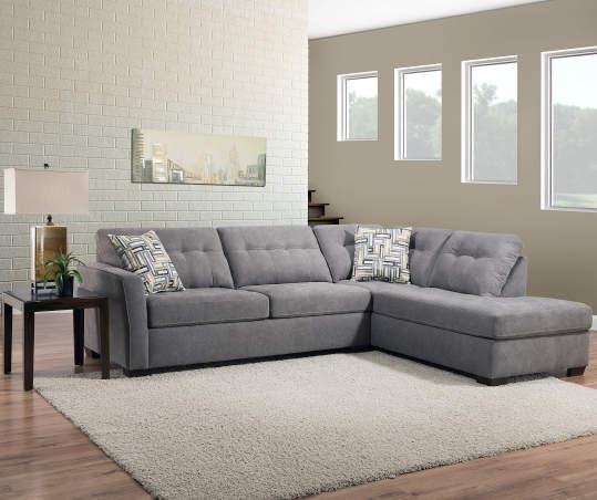 Pasadena Gray Living Room Sectional