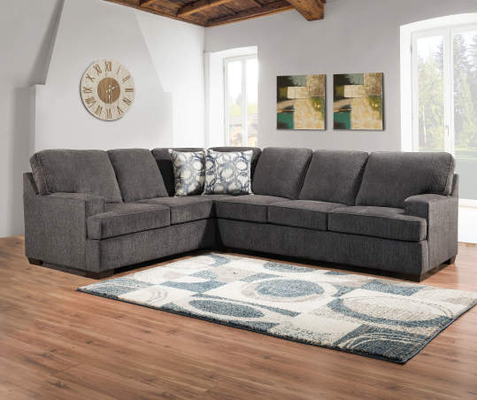 Lane Home Solutions Kasan Gray Living Room Sectional | Big Lots