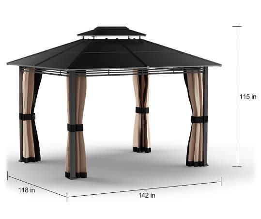 Lakewood Hard Top Gazebo 10 X 12, Big Lots Outdoor Canopy Tent