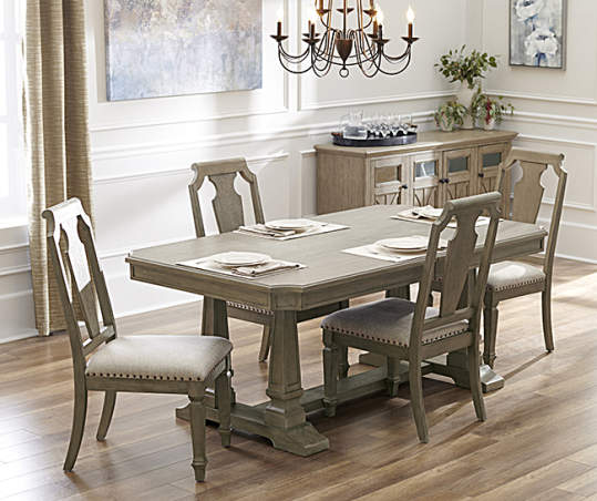 Broyhill Tuscany 5 Piece Dining Set With Wood Back Chairs Big Lots