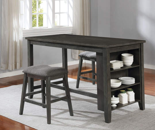 Real Living Raleigh Gray Storage Pub, Big Lots Dining Room Table